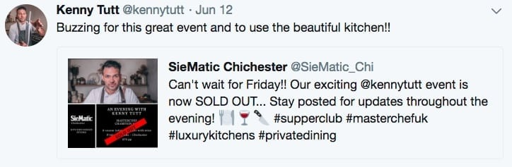 Tweet Kenny Tutt Supper club