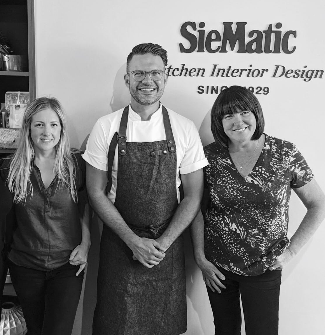 Photo of Masterchef Champion 2018 Kenny Tutt with SieMatic Chichester's Ellen and Theresa