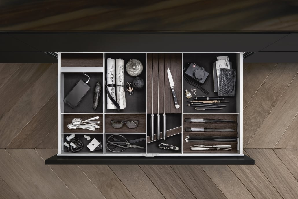Siematic cutlery storage drawer storage dividers