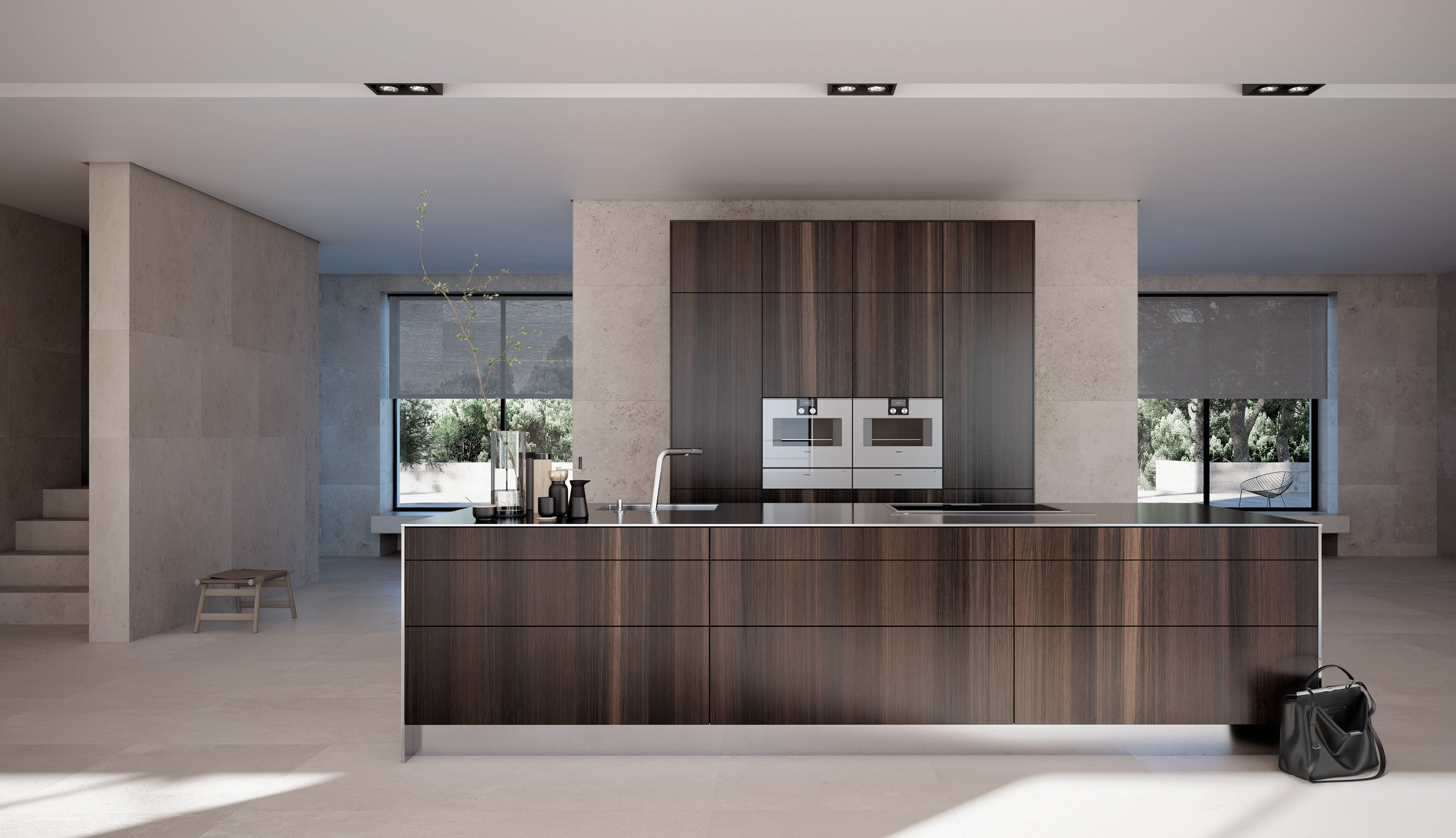 SIEMATIC pure kitchen with wooden effect island
