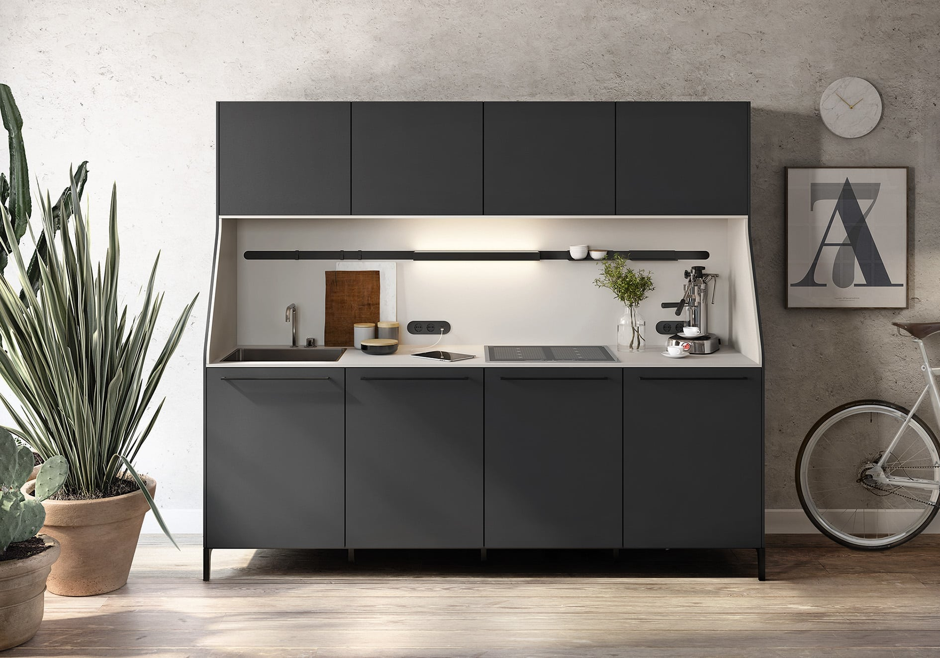 Siematic Chichester urban kitchen sideboard studio flat