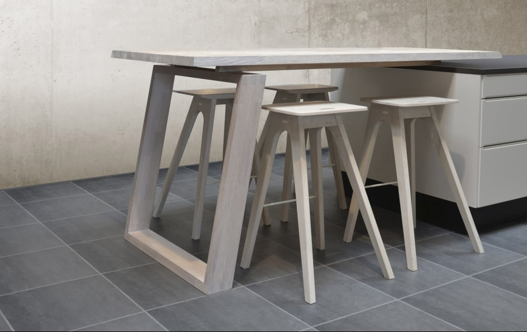 Image of Spekva wooden table and stools