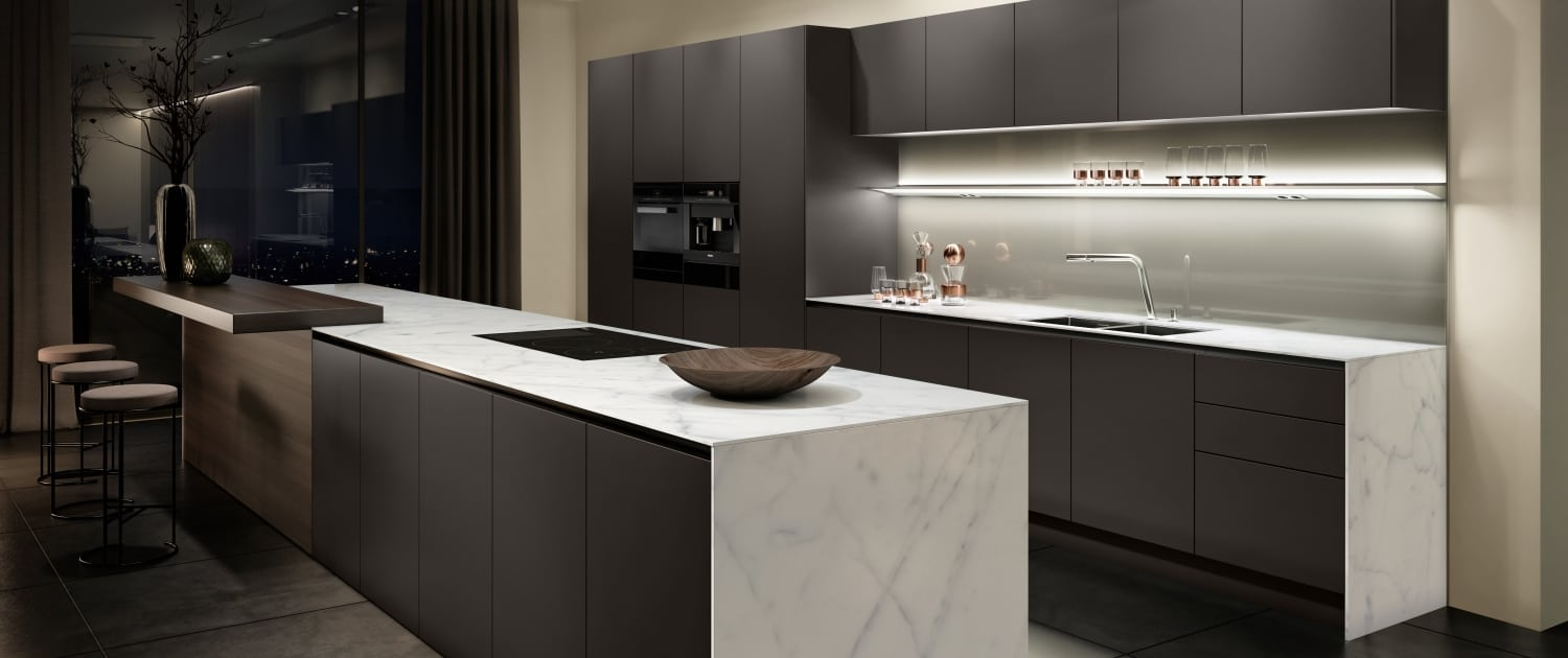 SieMatic Pure minimal black kitchen