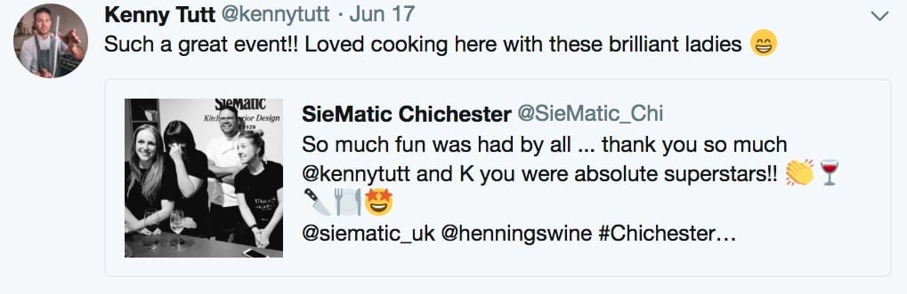 Tweet from Kenny Tutt